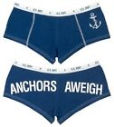 "WOMEN'S BLUE ""ANCHORS AWEIGH"" BOOTY SHORTS"