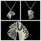 Dog Head Necklace different breeds womens gift REDUCED
