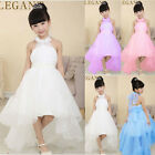 Girls Long Flower Wedding Bridesmaid Party Christening Occasion Prom Dress UK