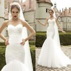 Mermaid Bridal Gowns Wedding Dresses 2016 New In Stock Size 2 4 6 8 10 12 14 16