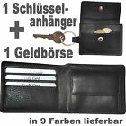 1 cl. Purse purce + 1 Keychain with Apparent Coin pocket / Cattle leather / QFK5