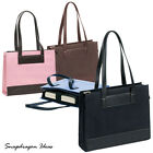 SnapdragonIdeas The Tribeca Twill Leather Bellino Ladies Tote Bag P6589