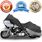 Motorcycle Bike Cover Travel Dust Cover For Harley Dyna Glide Low Rider