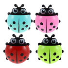 Plastic Ladybird Design Suction Cup Toothbrush Toothpaste Holder 2 Pcs