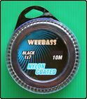 Weebass 10m of 7 Strand Fishing Nylon Coated Wire Trace With Crimps - Black