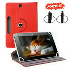 "360° Rotating UNIVERSAL LEATHER Smart STAND Case COVER FOR 8"" ANDROID TABLET PC"