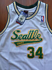 NBA Seattle Supersonics Ray Allen Throwback Swingman Sewn Stitched Jersey NWT
