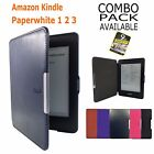 SMART WAKE UP & SLEEP LIGHTWEIGHT CASE COVER FOR AMAZON KINDLE PAPERWHITE 1 2 3