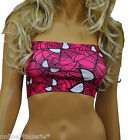 BOOB TUBE BLACK PINK SPIDER DESIGN FANCY DRESS STRAPLESS BANDEAU TOP PARTY H104