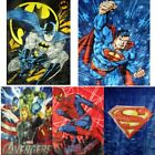 "Licensed Superhero 60"" x 80"" Royal Plush Mink Raschel Blanket - in 5 Styles"