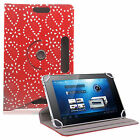 "Bling Diamond UNIVERSAL360°LEATHER STAND CASE COVER For All 10"",10.1""Tab,Tablets"