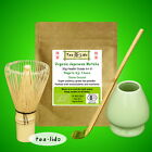 30g JAPANESE MATCHA Green Tea Powder, ORGANIC, Uji, Kyoto,Whisk, Scoop,Spoon,set