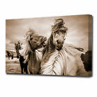 LARGE WILD HORSES CANVAS PRINT EZ1281