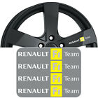 4x RENAULT F1 Team Vinyl Decal Sticker. Gloss finish. Text - White/Black/Silver