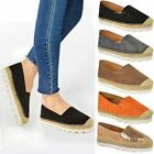 WOMENS LADIES FLAT ESPADRILLES MOCCASIANS FLATFORMS DECK WEDGE SHOES PUMPS SIZE