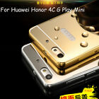 For Huawei Honor 4C G Play Mini Aluminum Metal Bumper +PC Mirror Back Case Cover