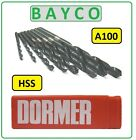 DORMER A100 JOBBER DRILLS FOR STEEL & METAL SIZES FROM 0.2MM TO 1.50MM METRIC