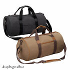 Travelwell Tahoe Stonewashed Canvas with Leather trim Travel Duffle P4650