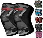 Knee Sleeve Pair Powerlifting Weightlifting Patella Support Brace Protector Camo