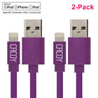 2 PCS Flat Apple MFi Certified Lightning USB Cable for iPhone 6/ 7 plus/5 3.3FT