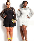 Women Sexy Summer Lace Clubwear Party Jumpsuit Romper Shorts Playsuit Plus size
