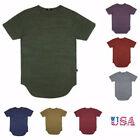 EPTM Men's Extended T-Shirt Tri-Blend Casual Basic Long Tee Made In USA S-2X