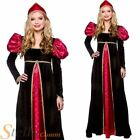 Ladies Medieval Queen Tudor Historical Fancy Dress Costume Womens Outfit
