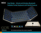 Wired + Wireless Bluetooth Backlit Foldable Keyboard iPad iPhone Andriod Windows