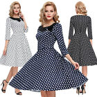 RETRO WOMENS VINTAGE STYLE 50s 60s PINUP SHORT SWING PROM PARTY BRIDESMAID DRESS