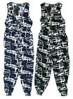 Girls Abstract Print Zip Front Sleeveless Fashion Jumpsuit 3 to 12 Years