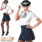 Policewoman Ladies Fancy Dress Police Cop Uniform Womens Adults Costume Outfit