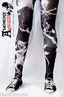 Alchemy Official Electric Skull Tights Black Goth Emo One Size