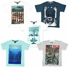 Boys Older Manhattan Palm Beach Motorbike LA Route66 T-Shirt Top 7 to 13 Years