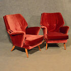 Pair of late 1950's Armchairs Designer Easy Club Chairs Quality Original Vintage