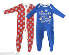 England Baby Onesies sleepsuits, 2 Pack, Red and Blue, Newborn - 2 years