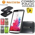 MOTOROLA MOTO G3 3rd CASE, HEAVYDUTY SLIM ARMOR COVER + GLASS SCREEN PROTECTOR