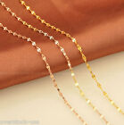 Pure 18K Gold Necklace Charm lip-shape chain 18 inch 3 color available