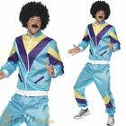 Mens Shell Suit Costume 80s Scouser Tracksuit Fancy Dress Adult Outfit Tash Wig