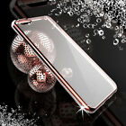 Fashion Bling Rhinestone ShockProof Silicone Clear Case Cover For iPhone 6 Plus