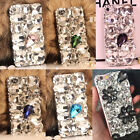 Hot Luxury Bling Clear Diamond Rhinestone Crystal Jewelled Back Phone Case Cover