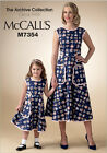 McCalls 7354 Child OR Adult Archive Collection Retro 1950s Dress Pattern M7354