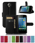 Litchi Leather slot wallet stand flip Cover Case for Acer Liquid Z330/M330/Z320