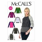 McCalls 6992 EASY Pullover Jumper Raglan Sleeve Lace Sewing Pattern M6992 6in1!