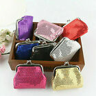Pretty Sequin Retro Style Small Coin Change Clip Purses Girls Party Bag Fillers