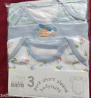 Baby Boy Pack of 3 Bodysuits Newborn 3-6 6-9 9-12 12-18 18-24 Months 100% Cotton