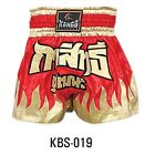 Kango Muay Thai Kick Boxing Shorts MMA Martial Arts Combat Sports Training Gold