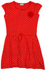 Girls Chainstore All Over Hearts Print Red Mesh Flower Skater Dress 3 - 13 Years