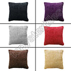 CHENILLE SOFT TEXTURED SPARKLE GLITTER CUSHION COVER RED GREY BLACK BEIGE PURPLE