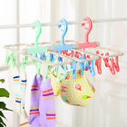 Foldable Drying Hanger Outdoor Underwear Socks Drying Rack With 10 Clips