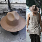 ByTheR Men's Fashion Modern Classic Wool Felt Chic Mountain Fedora Casual Hat